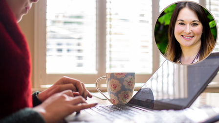Charlotte Bate of MAD-HR (inset) on how to work from home effectively.