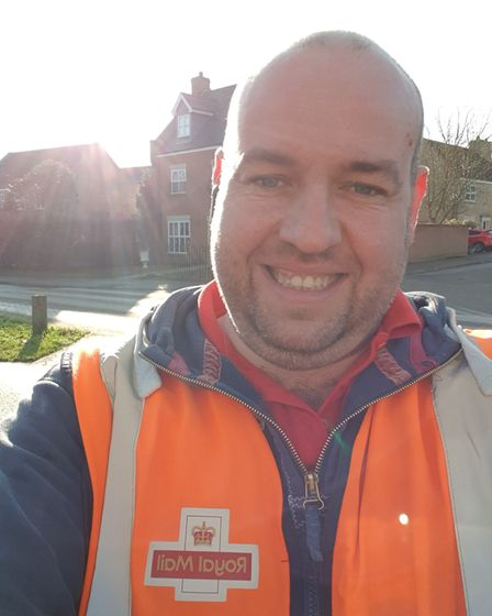 Gav Fisher on his rounds in Ely.