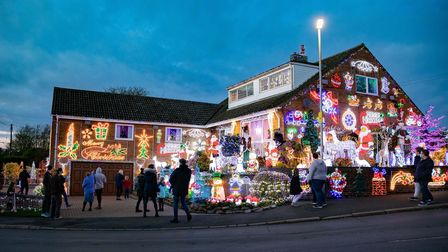 Meet the couple behind the Christmas lights-covered house in Soham. Picture: Terry Harris
