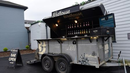 Side on shot of The Birdhouse food truck