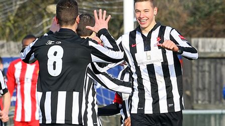 Dereham's Ryan Hawkins, right. (Photo by Paul Chesterton/phcimages.com)