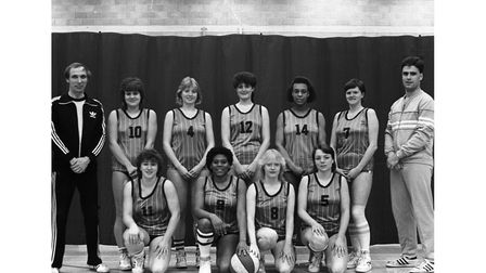 Ipswich Bobcats Ladies Basketball Team in March 1985