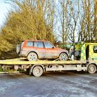 """Police in Ely sent this suspected coursers' car """"for bean tin""""."""