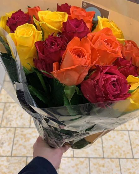 A bright bouquet of flowers