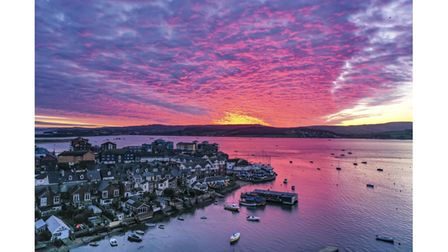 David Pick's photo of the sunsetting over Exmouth Marina