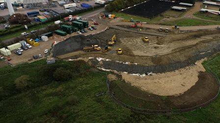 Three-minute 'flight' over the King's Dyke Crossing project in Whittlesey.