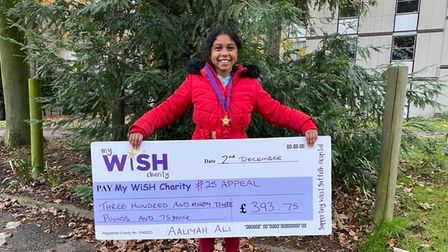 Aliyah Ali walked 25km with her mum to raise money for a hospital appeal
