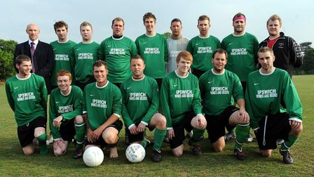 TREBLE WINNERS: Shotley Rose Football Club were denied a fourth trophy when they were beaten 2-1 by