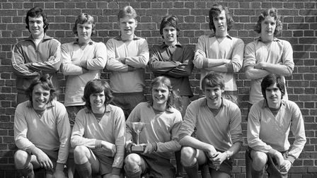 FOR EADT FLASHBACK JAN 11 09; The Ipswich Civic College football team of April 1975.