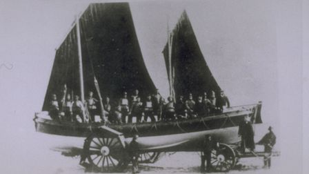 Cromer lifeboat Louisa Heartwell on her carriage