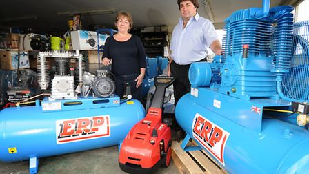 Sally Tuddenham and her brother Alan who will be taking over their late father Michael's business, T