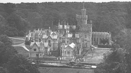 An undated aerial view of Costessey Hall before it was demolished.