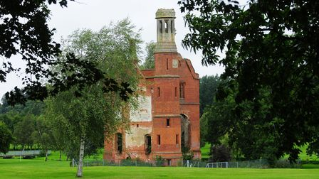All that remains of Costessey Hall which sits in the parkland that is now occupied by Costessey Park