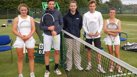 Photos from senior week at Cromer - open mixed doubles - Maria Andrews and Johnnie Carmichael, Norfo