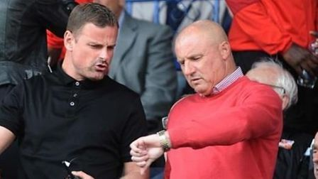 Paul Jewell, pictured with Swindon manager Richie Wellens. Picture: DAVE EVANS/SWINDON ADVERTISER