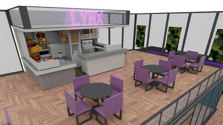 Designs for the cafe at Lynx Fitness, a new gym which is set to open in Brandon.
