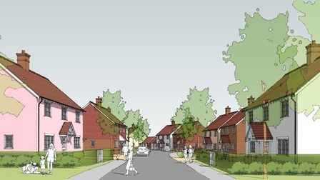An artist's impression of residential streets