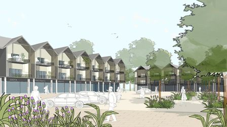 An artist's impression of the local centre
