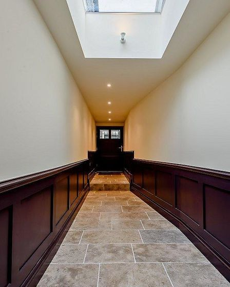 The house features a handsome entrance call.