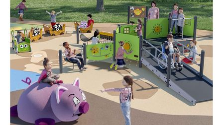 An artists' impression of the new play area at Alexandra Park in Ipswich