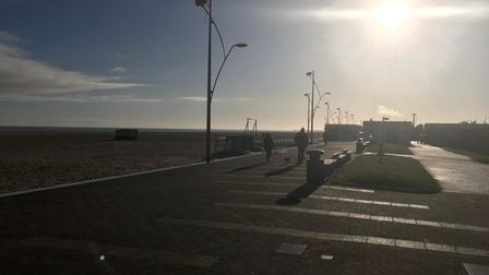 Great Yarmouth seafront on the first weekend of the third national lockdown