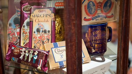 Historic display at Caley's café in Norwich. Photo: Bill Smith