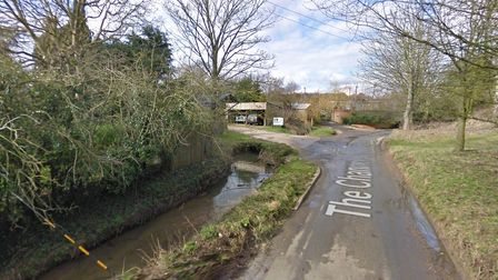 The Channel in Flowton where the dog was rescued