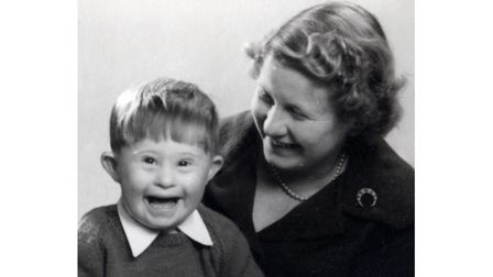Richard with his mother Joyce Little as a young boy