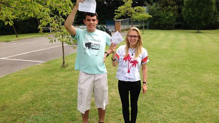 Top Iceni Academy performers Louisa Smither and Elliott Stronza.
