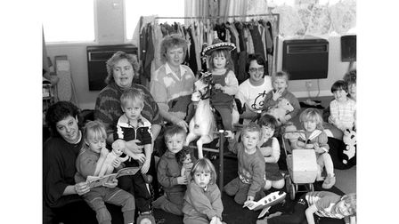 Children at Kyson Playgroup in Woodbridge in February 1988