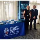 Lauren Cowie, of the cyber protection unit, at an event