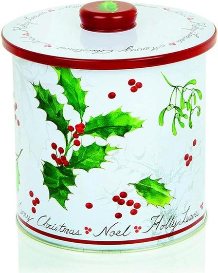 Christmas themed biscuit barrel