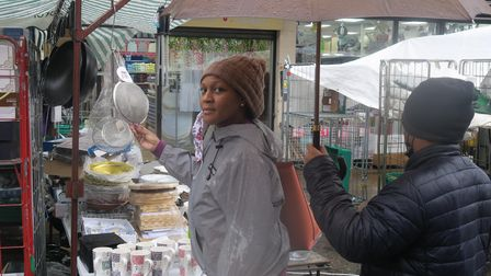 Catherine supporting local traders in Watney Market