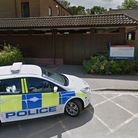 Police car parked in front of Wedgwood House in Bury St Edmunds