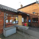 Freethorpe post office and stores which sustained damage to its front door after a burglary. Pictur