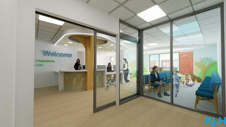 An artists' impression of the new childrens' ward set to be built at Ipswich Hospital