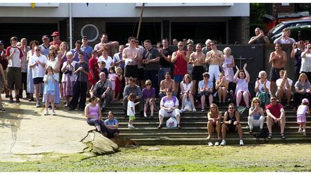 Manningtree mud race and tug of war in 2002