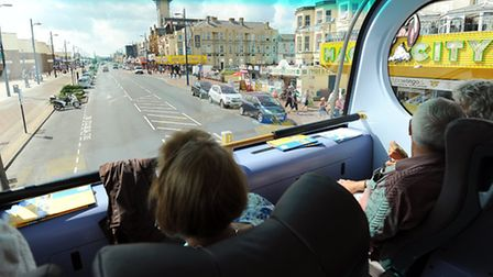 Radio Norfolk who have organised a bus tour around Great Yarmouth to highlight the town and all the