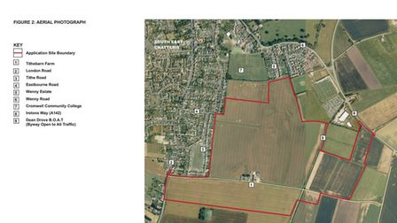Site of 1,000 homes for Chatteris. The final agreement has been reached to enable work to progress.