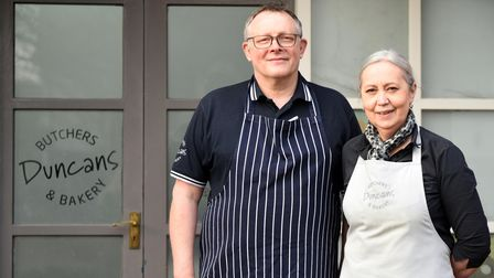 Duncan and Sue Foulger run a butchers' and bakery in Martlesham Heath