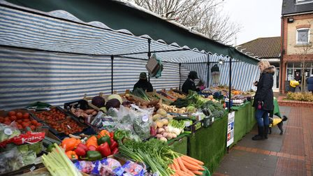 Market traders have continued to serve customers throughout lockdown