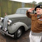 A 1939 Humber car which was used as a pool car by the government. Colin Brook-Williams who has boug