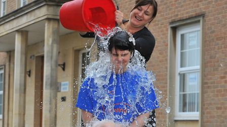 Chloe Smith takes the ice bucket challenge. Picture: Simon Finlay