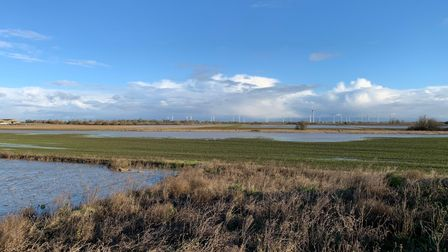 Flooded Berryfield site in March