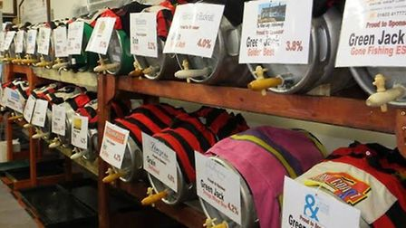 A selection of the beers available at the Wymondham Rugby Club beer festival. Picture: Supplied