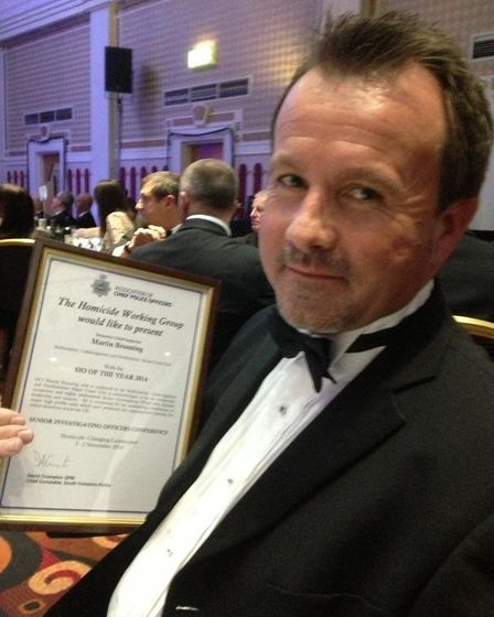 He was a DCI when he received this award but Martin Brunning is now detective chief superintendent for the...
