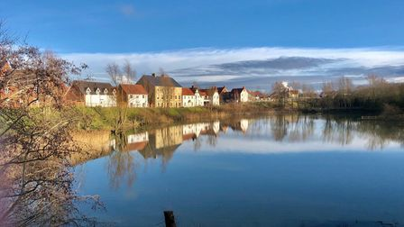A photo taken by Jeanette McLoughlin on a walk in Wymondham, posted on the Walking for Well-being Facebook page.
