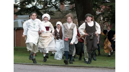 Tudor Day at St Louis Middle School in Bury St Edmunds in January 1999