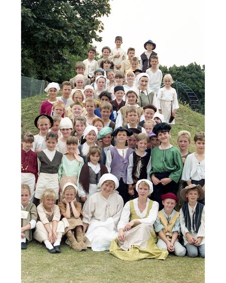 The children from Dale Hall School in Ipswich all dressed up for Tudor Day in 1990