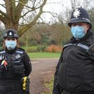 PC Sam Smerdon, a beat manager for Norwich East Police, and Sgt Chris Clay, area sergeant for Norwic